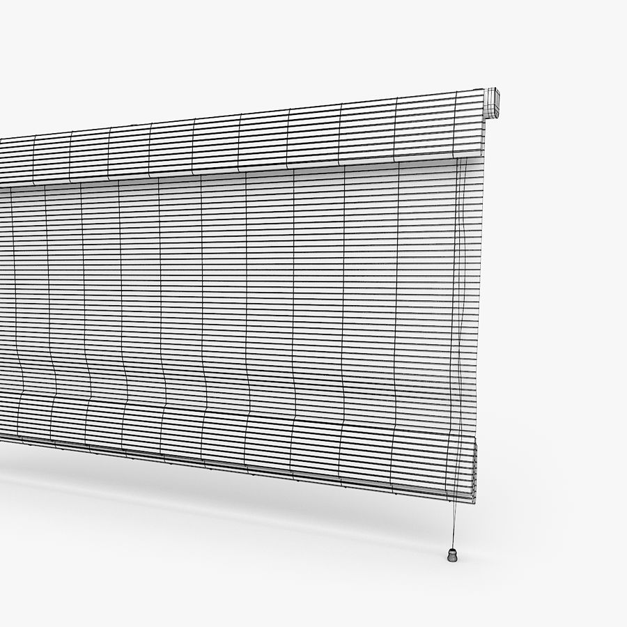 Wooden Blinds royalty-free 3d model - Preview no. 6