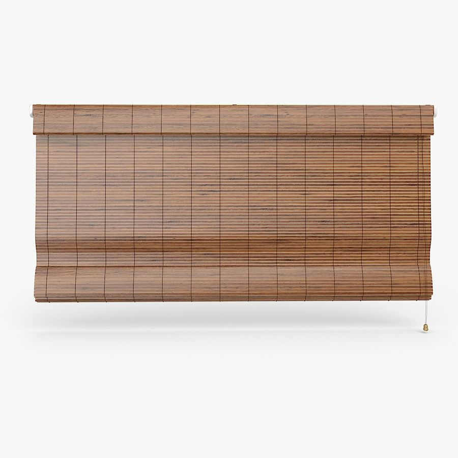Wooden Blinds royalty-free 3d model - Preview no. 2