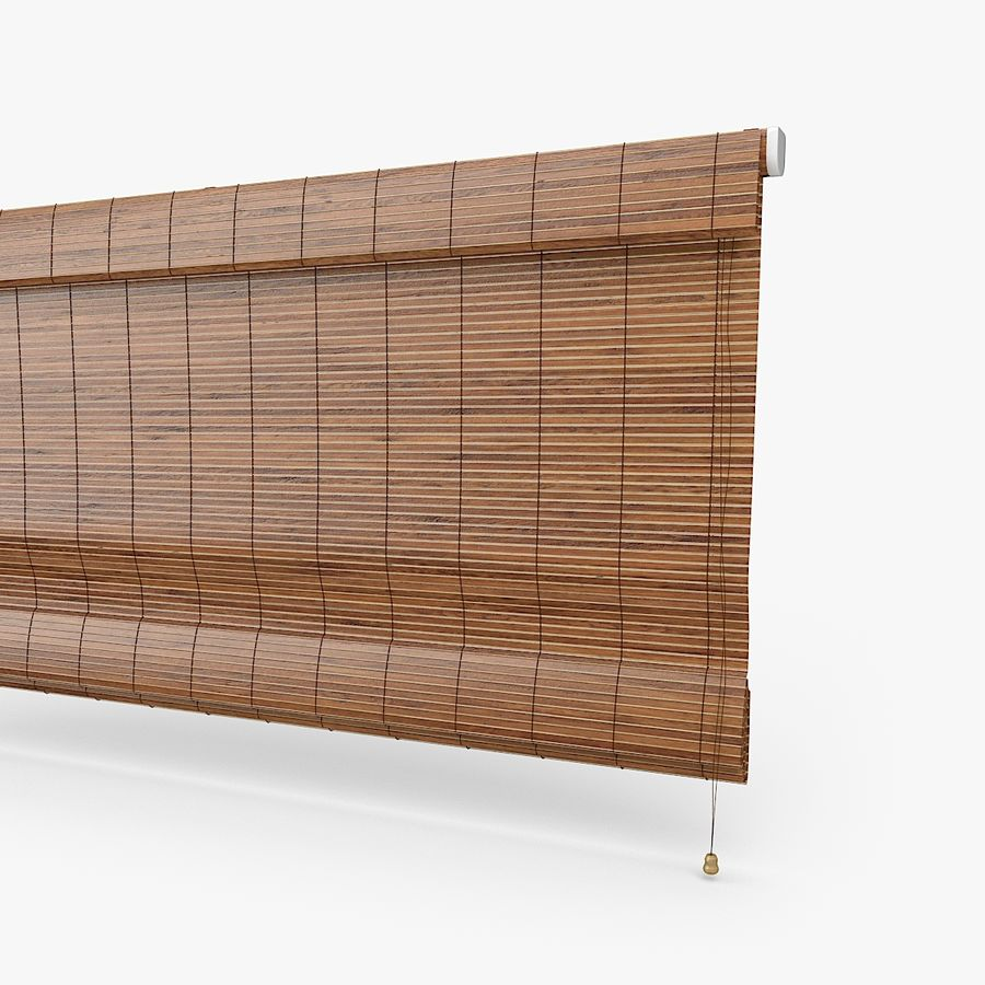 Wooden Blinds royalty-free 3d model - Preview no. 3