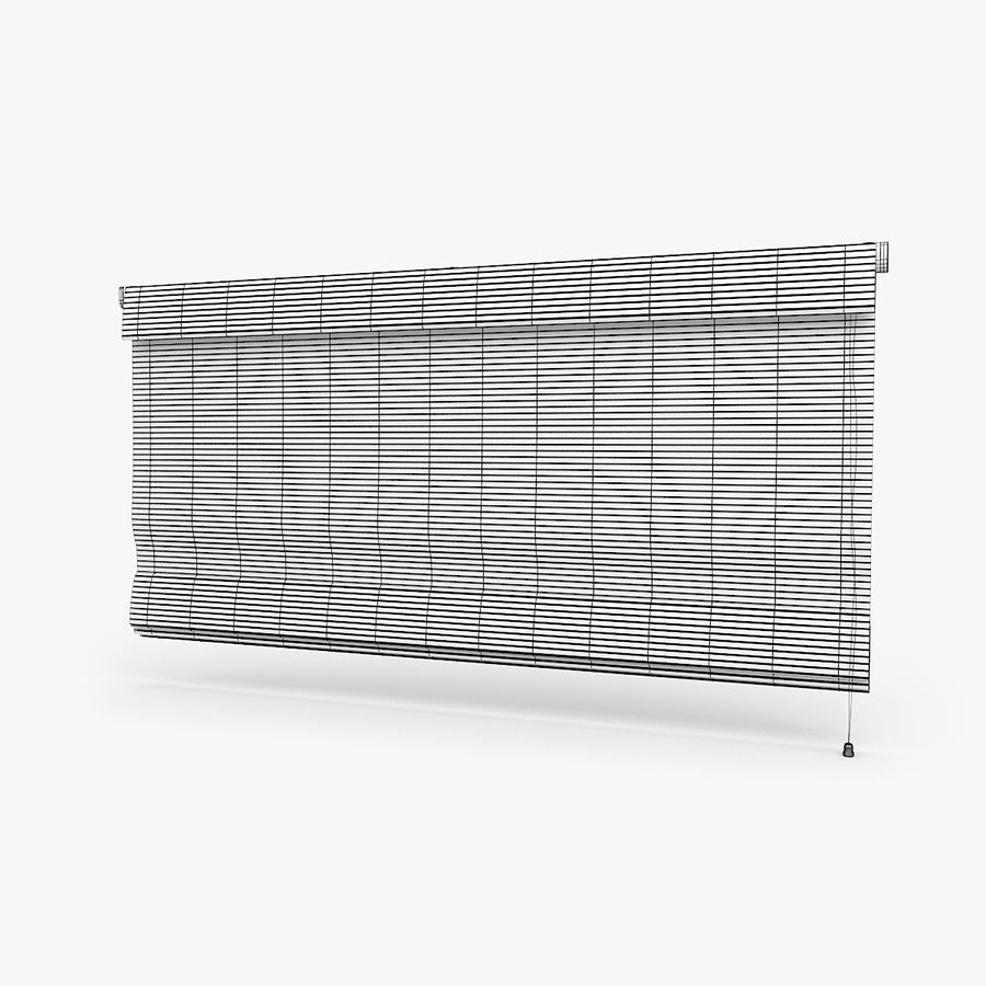 Wooden Blinds royalty-free 3d model - Preview no. 5