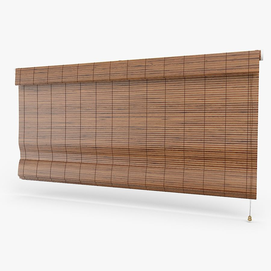 Wooden Blinds royalty-free 3d model - Preview no. 1