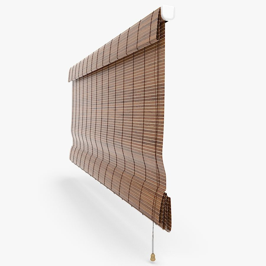 Wooden Blinds royalty-free 3d model - Preview no. 4