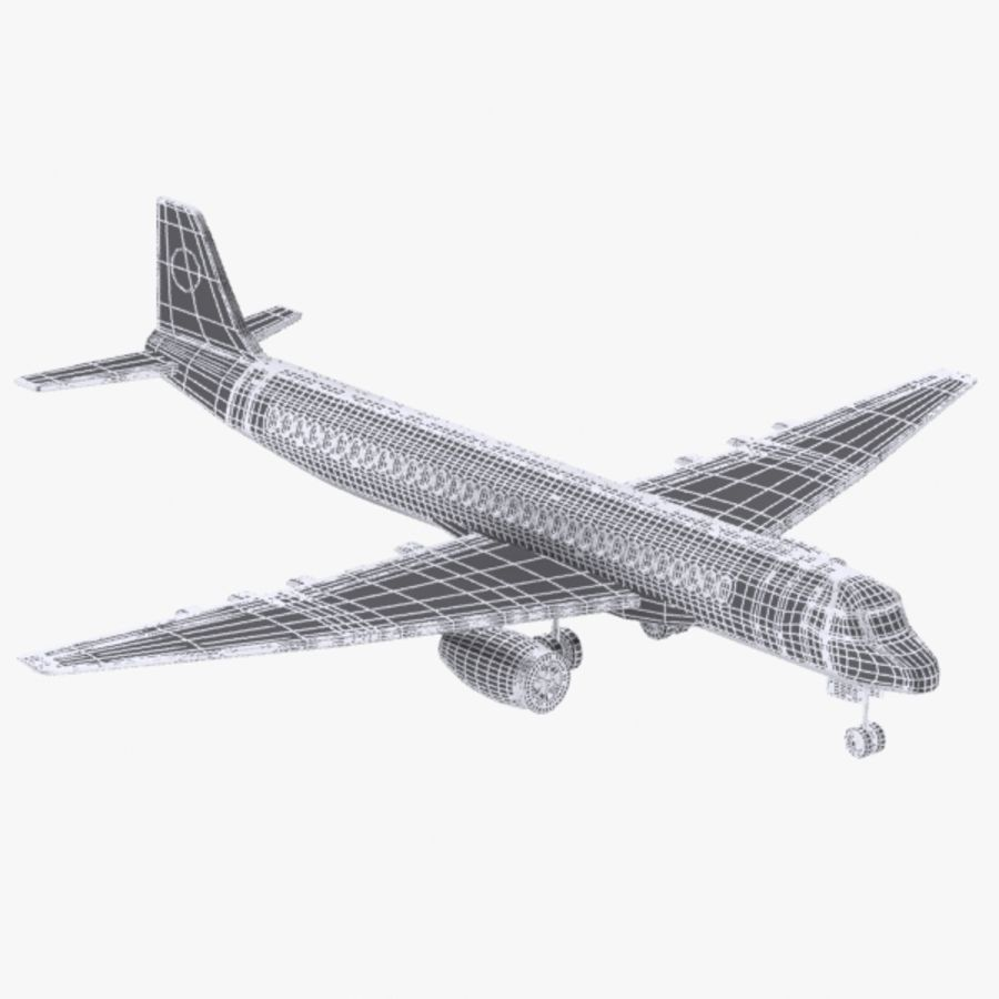 Cartoon Commercial Aircraft royalty-free 3d model - Preview no. 9