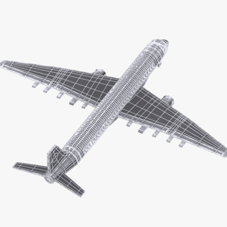 Cartoon Commercial Aircraft royalty-free 3d model - Preview no. 10