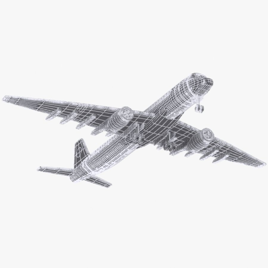 Cartoon Commercial Aircraft royalty-free 3d model - Preview no. 11