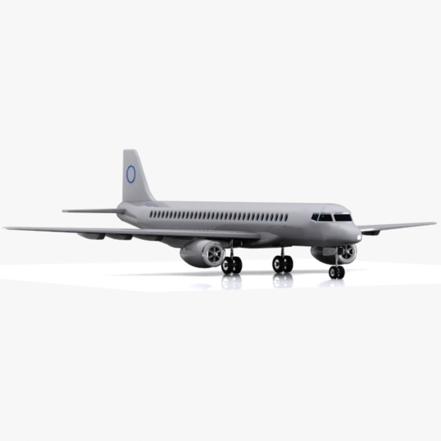 Cartoon Commercial Aircraft royalty-free 3d model - Preview no. 5