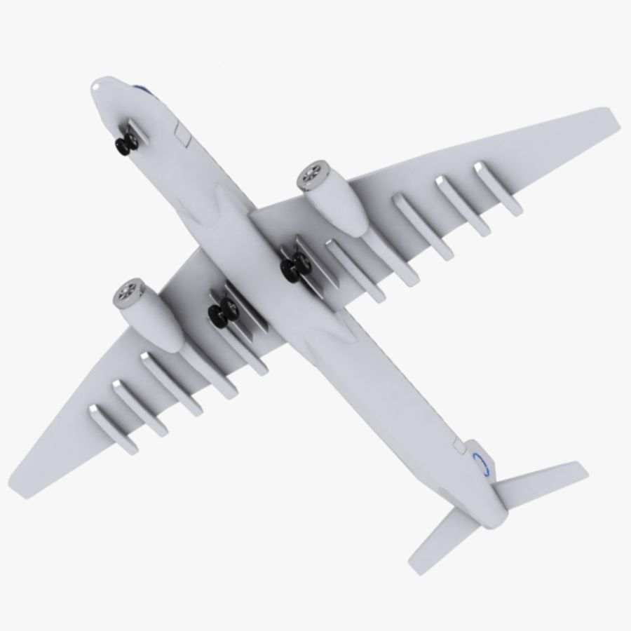 Cartoon Commercial Aircraft royalty-free 3d model - Preview no. 7