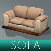 Sofa textured 3d model