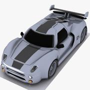 Cartoon Sports Car 3 3d model