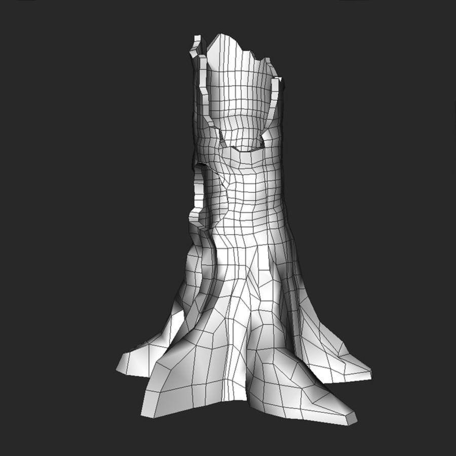 Coto de árvore caído oco royalty-free 3d model - Preview no. 6