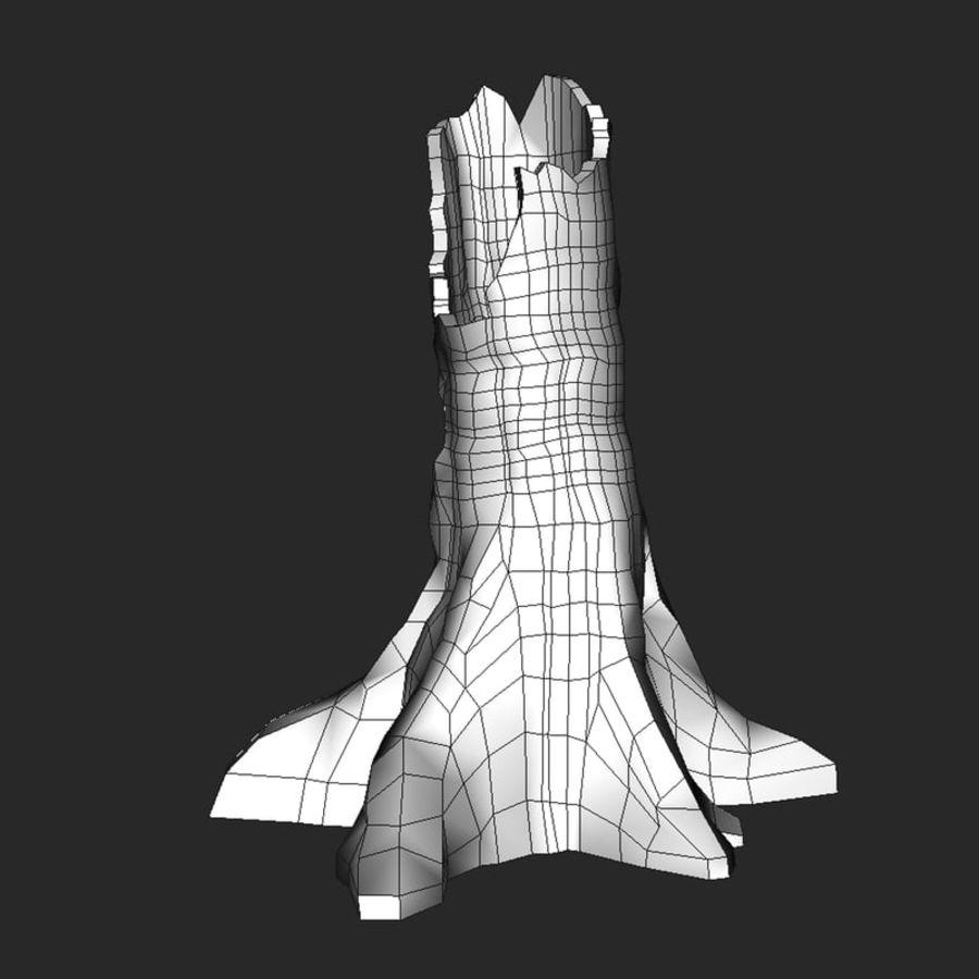 Coto de árvore caído oco royalty-free 3d model - Preview no. 9