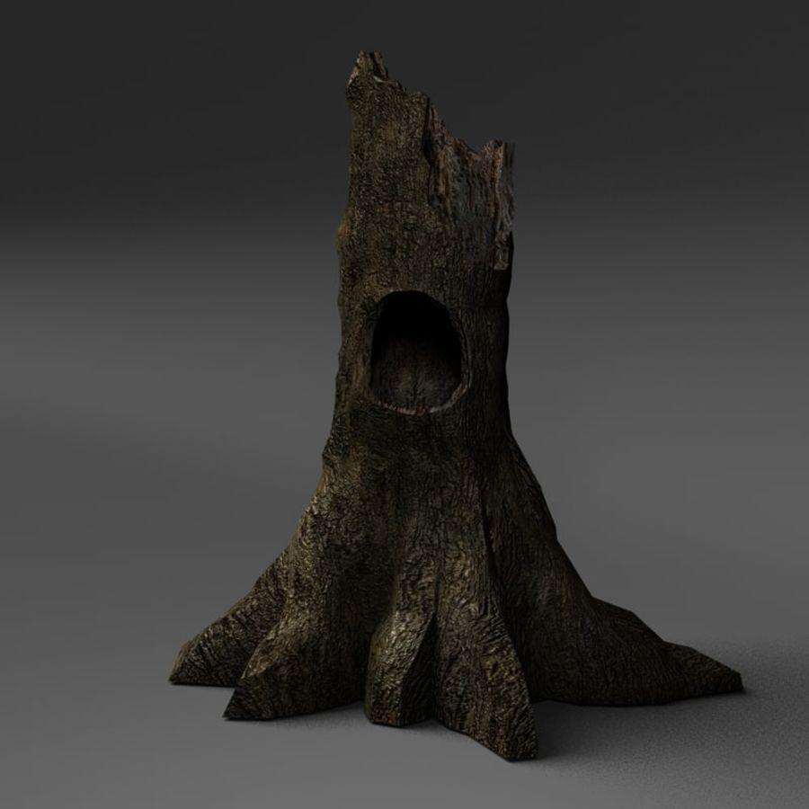 Coto de árvore caído oco royalty-free 3d model - Preview no. 1