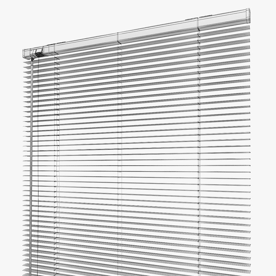 White Blinds royalty-free 3d model - Preview no. 6