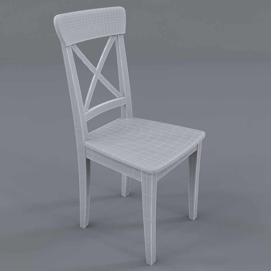 Pleasing Chair Ikea Ingolf White 3D Model 19 Max Obj Fbx 3Ds Pdpeps Interior Chair Design Pdpepsorg