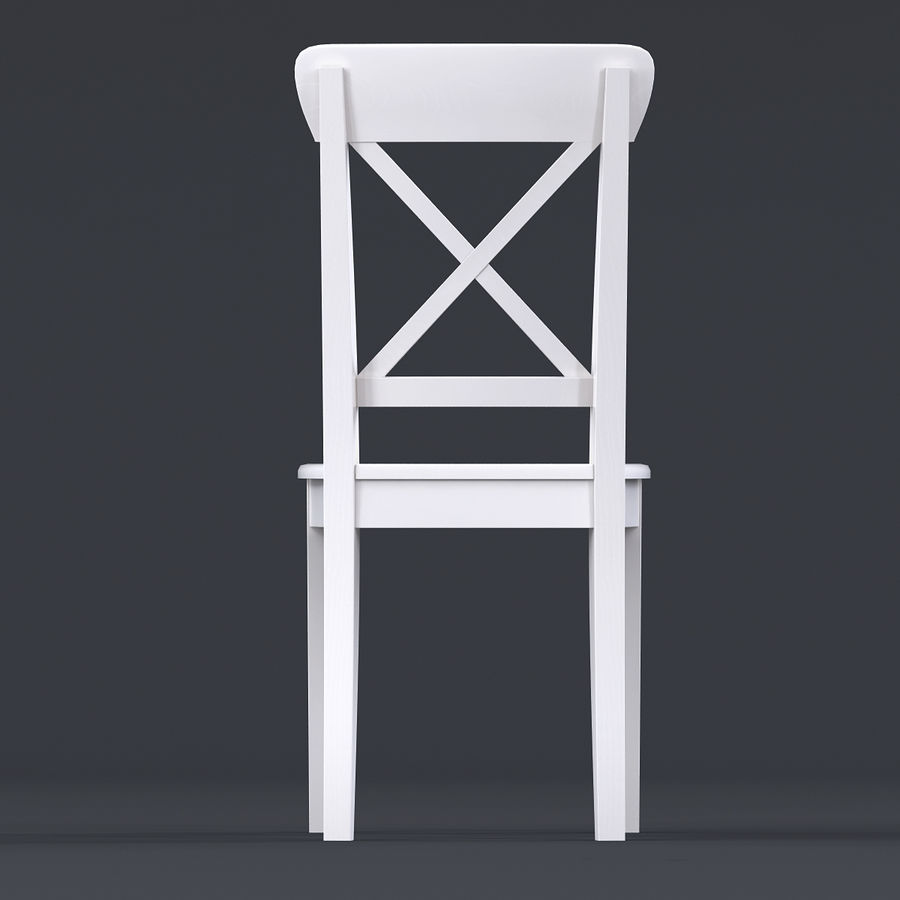 Awe Inspiring Chair Ikea Ingolf White 3D Model 19 Max Obj Fbx 3Ds Pdpeps Interior Chair Design Pdpepsorg