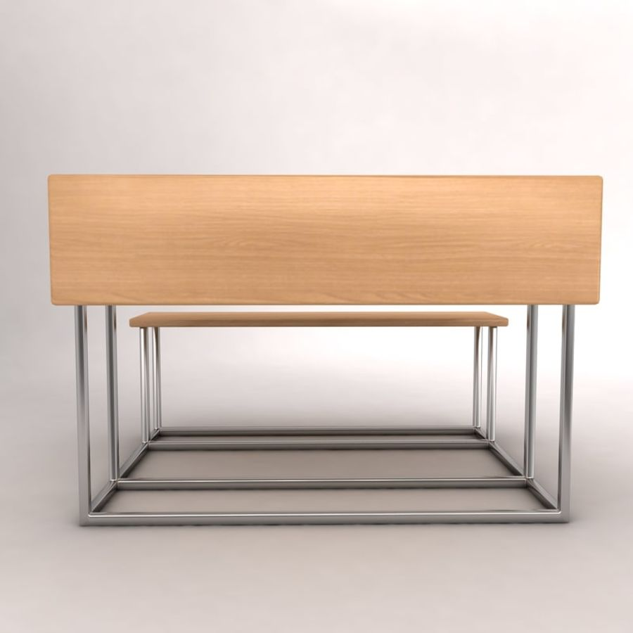 Desk Bench royalty-free 3d model - Preview no. 4