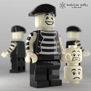 Lego Mime Figure 3d model