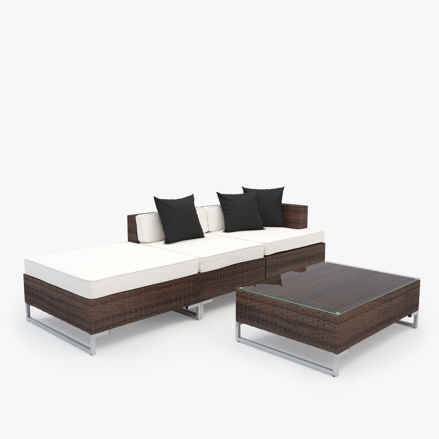Gartenmobel Sofa Aus Synthetischem Rattan Tisch Sessel Hocker