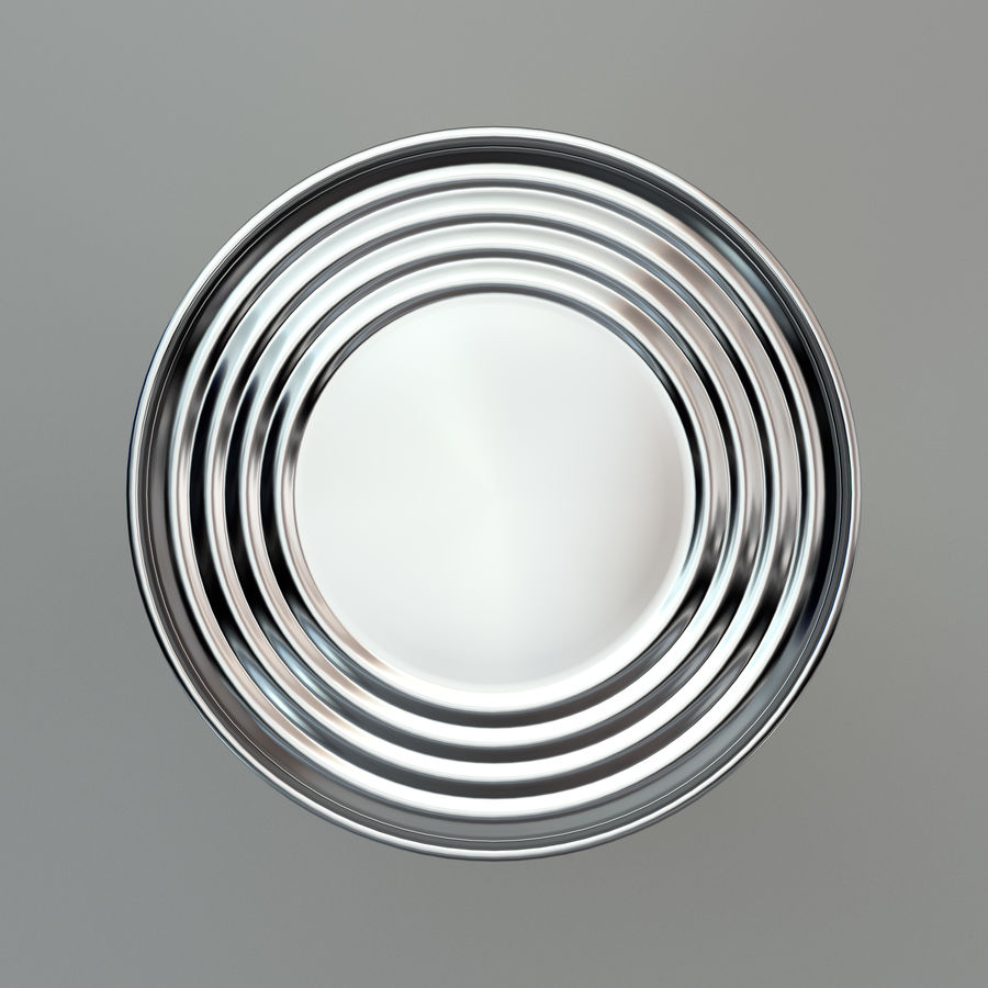 Tinned tomato soup tin can royalty-free 3d model - Preview no. 6