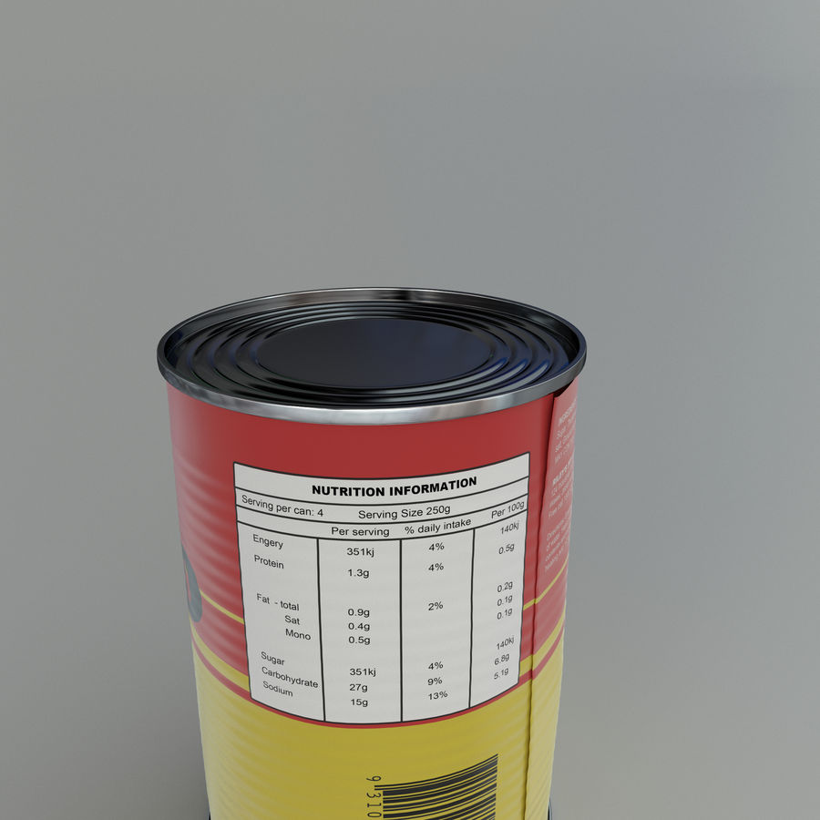 Tinned tomato soup tin can royalty-free 3d model - Preview no. 4