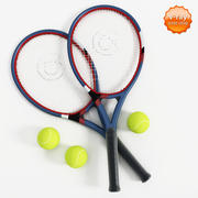 Tennis racket and ball 3d model