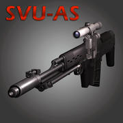 Sniper Rifle Dragunov SVU 3d model