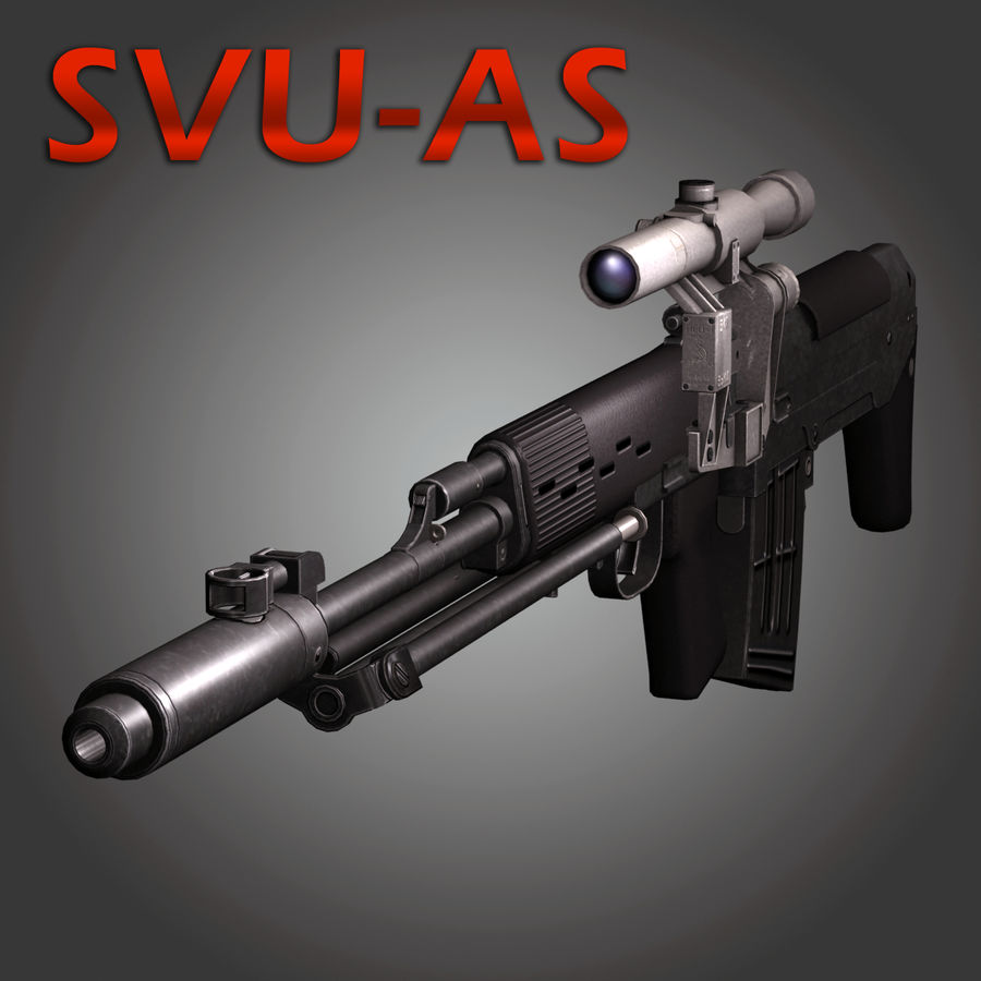 Sniper Rifle Dragunov SVU royalty-free 3d model - Preview no. 1