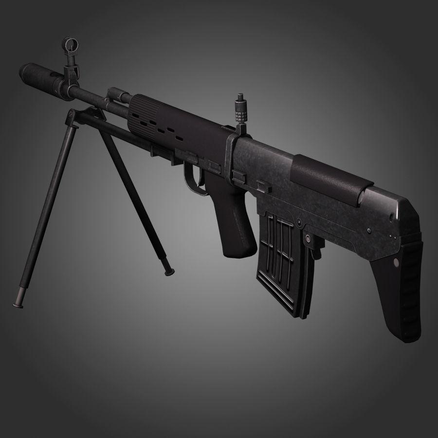 Sniper Rifle Dragunov SVU royalty-free 3d model - Preview no. 9
