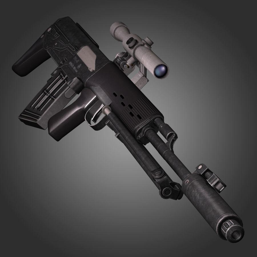 Sniper Rifle Dragunov SVU royalty-free 3d model - Preview no. 5