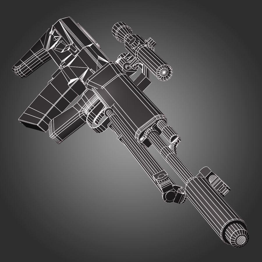Sniper Rifle Dragunov SVU royalty-free 3d model - Preview no. 6