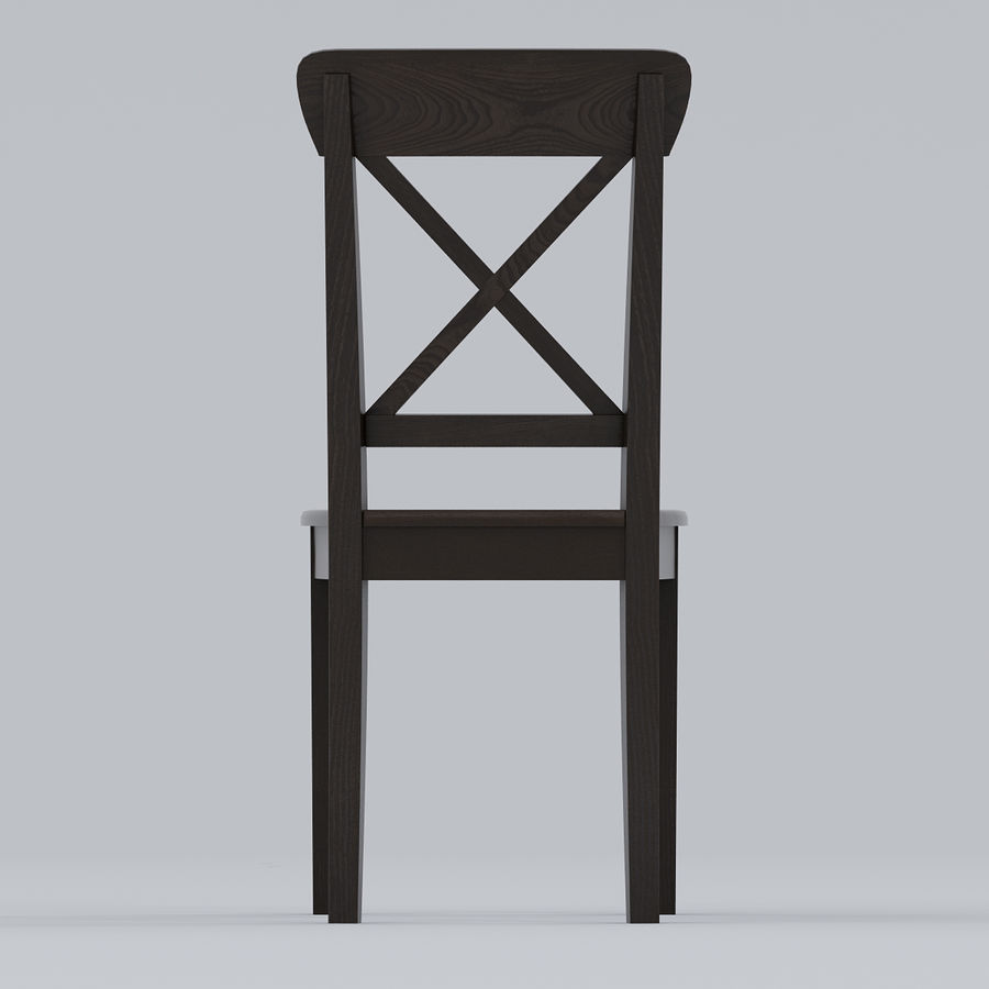 ikea ingolf brown black chair 3d model 19 max obj fbx 3ds
