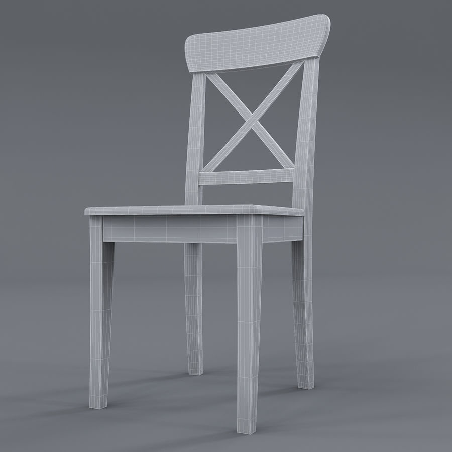 Ikea Ingolf Brown Black Chair 3d Model 19 Max Obj
