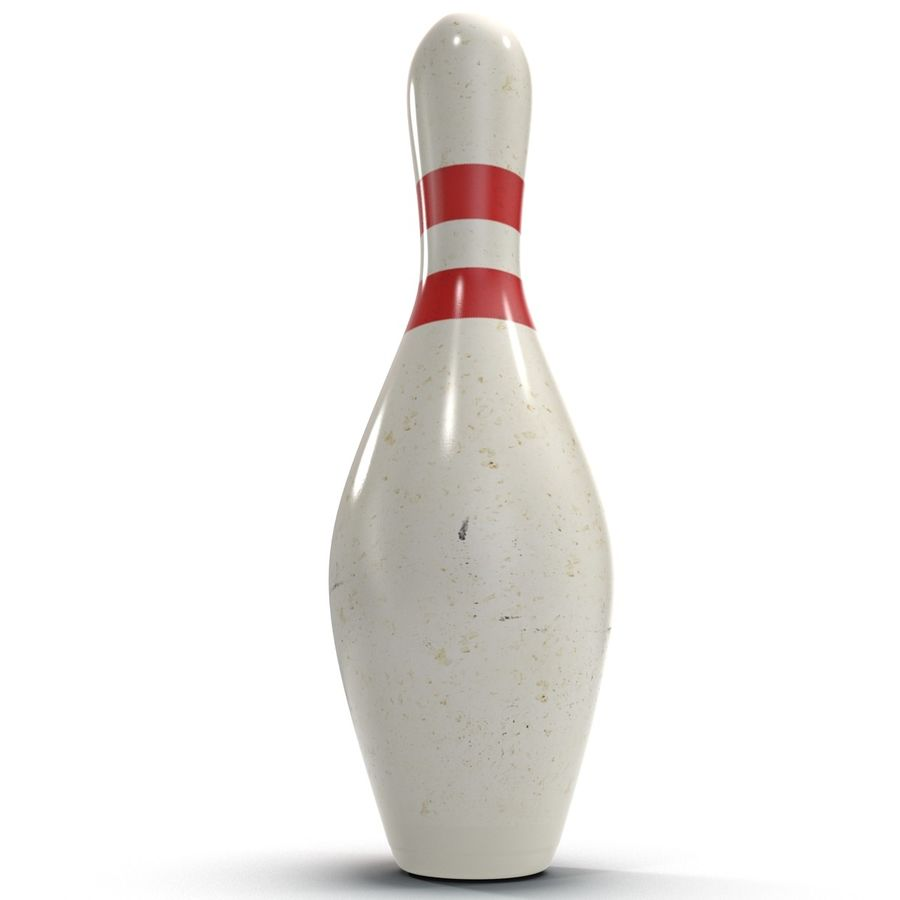 Bowling Pin royalty-free 3d model - Preview no. 2