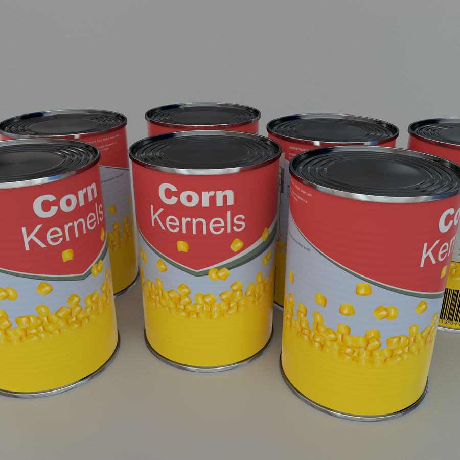 Tinned corn tin can royalty-free 3d model - Preview no. 1