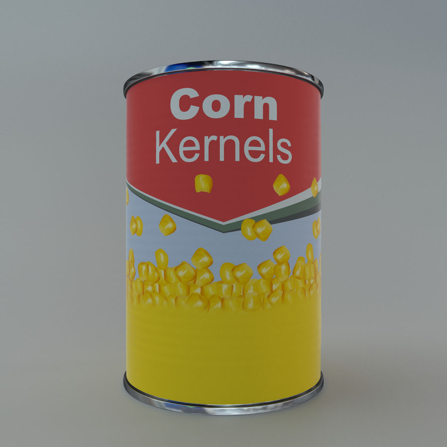Tinned corn tin can royalty-free 3d model - Preview no. 2