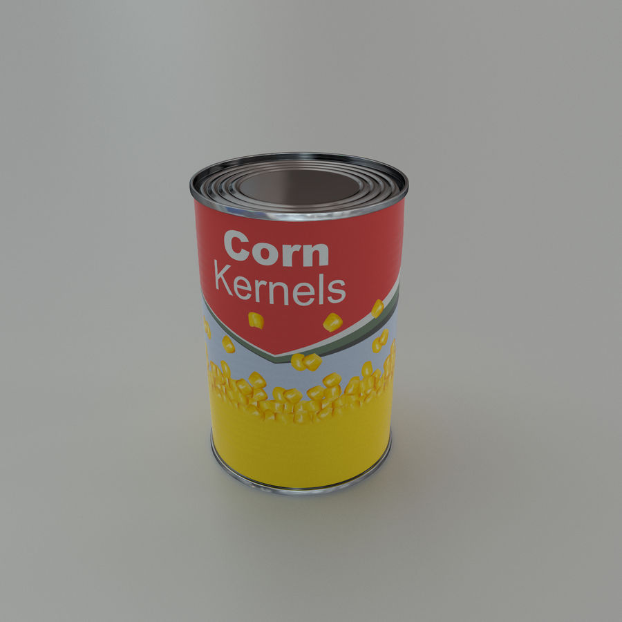 Tinned corn tin can royalty-free 3d model - Preview no. 4