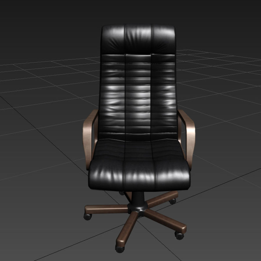 Armchair boss black brown royalty-free 3d model - Preview no. 4
