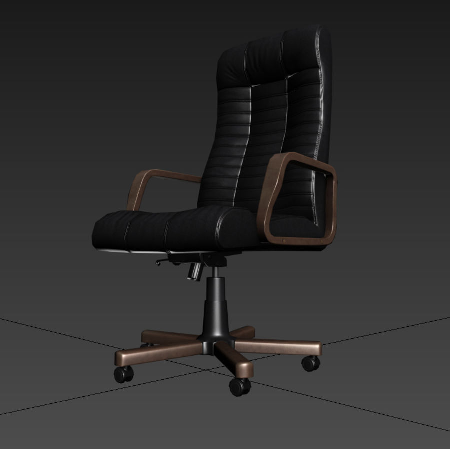 Armchair boss black brown royalty-free 3d model - Preview no. 5