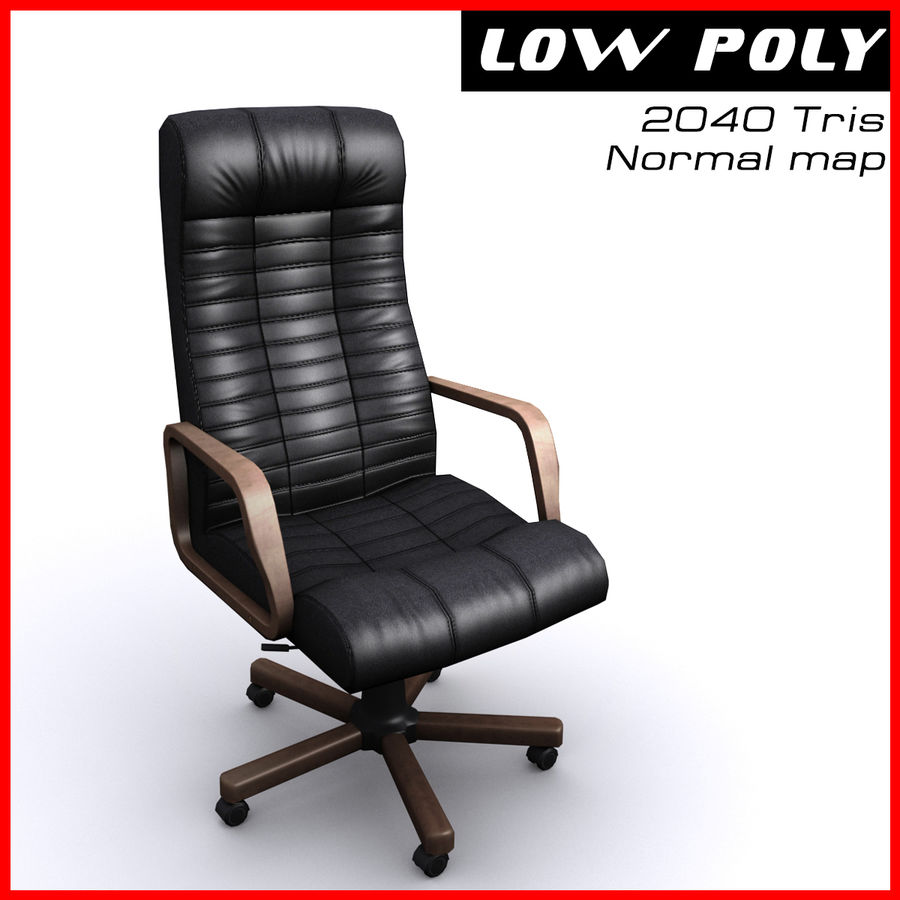 Armchair boss black brown royalty-free 3d model - Preview no. 1