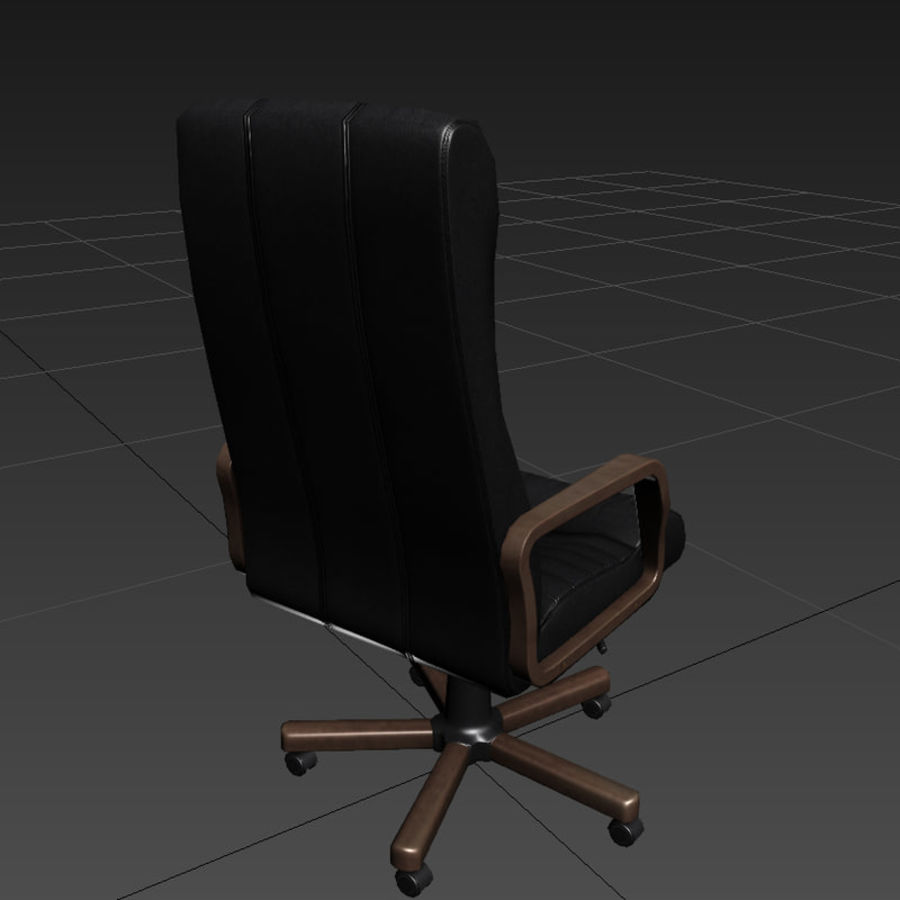Armchair boss black brown royalty-free 3d model - Preview no. 3