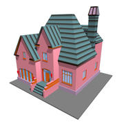 pink home 3d model
