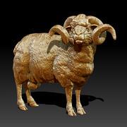Ram Statue (Highpoly) 3d model