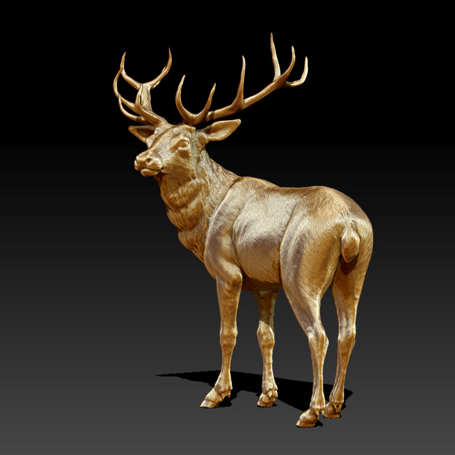 Deer Statue (Highpoly) royalty-free 3d model - Preview no. 5