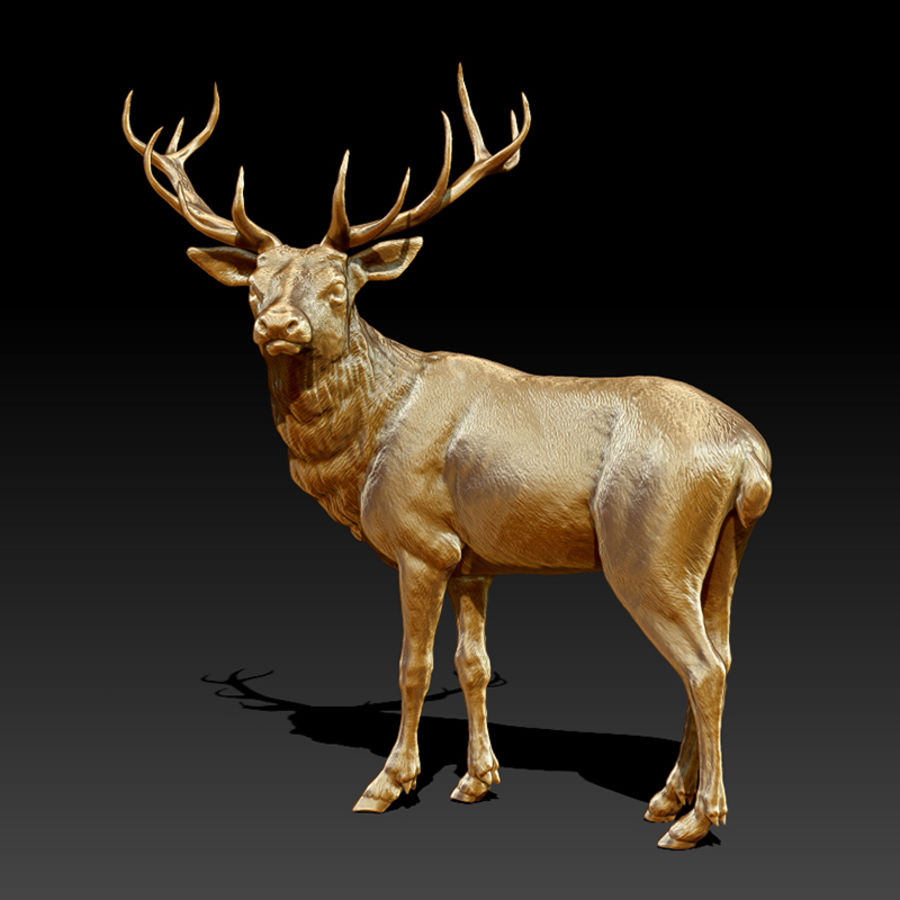 Deer Statue (Highpoly) royalty-free 3d model - Preview no. 1