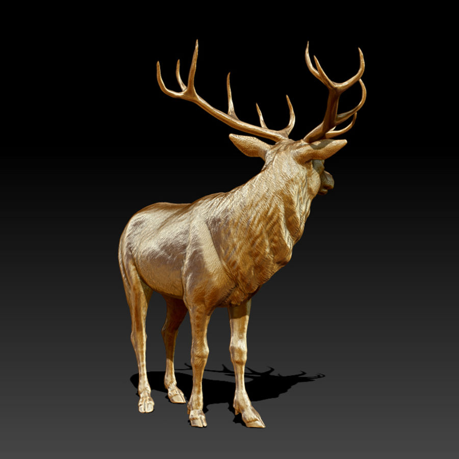 Deer Statue (Highpoly) royalty-free 3d model - Preview no. 3