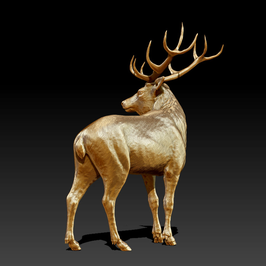 Deer Statue (Highpoly) royalty-free 3d model - Preview no. 4
