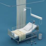 Больничная койка 3d model