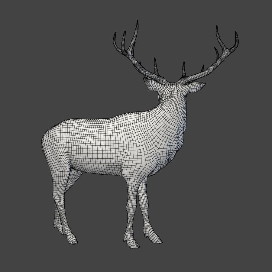 Deer Statue royalty-free 3d model - Preview no. 6