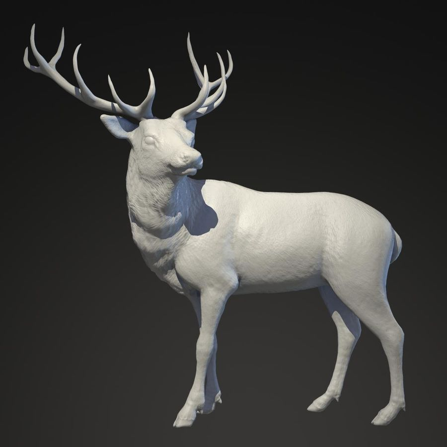 Deer Statue royalty-free 3d model - Preview no. 1