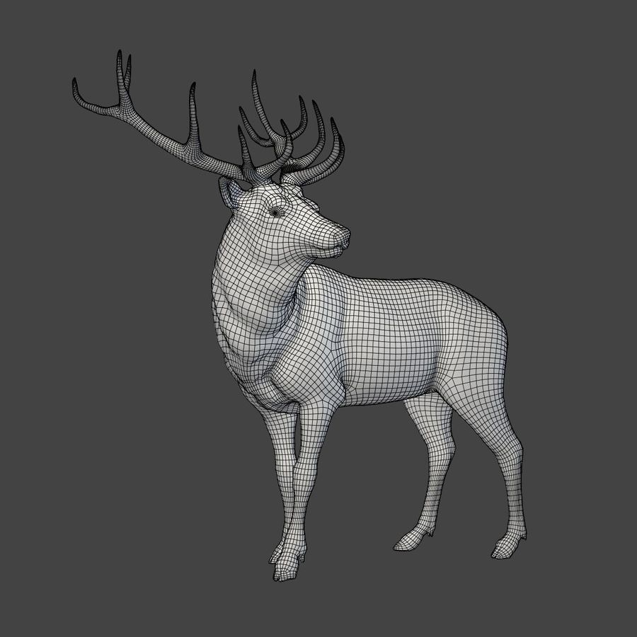 Deer Statue royalty-free 3d model - Preview no. 5
